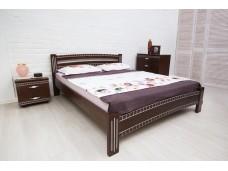 Ліжко Мілана Люкс з фрезеруванням та патиною